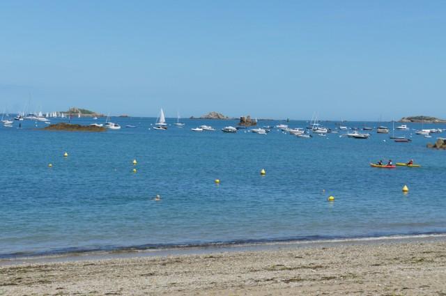 Carantec, high tide