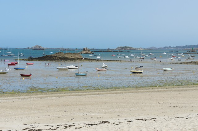 Carantec, low tide